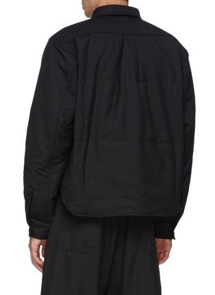 Back View - Click To Enlarge - COMME DES GARÇONS SHIRT - Wool Gabardine Cropped Padded Shirt