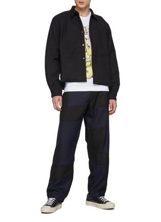 Figure View - Click To Enlarge - COMME DES GARÇONS SHIRT - Wool Gabardine Cropped Padded Shirt