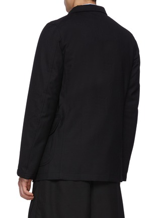 Back View - Click To Enlarge - COMME DES GARÇONS SHIRT - Ply Padding Wool Gabardine Plain Blazer