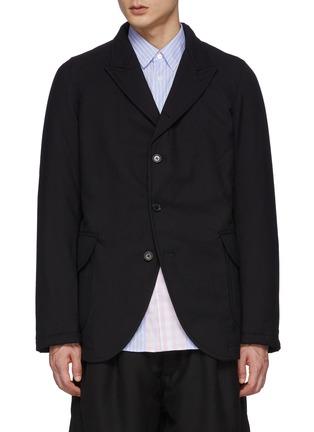 Main View - Click To Enlarge - COMME DES GARÇONS SHIRT - Ply Padding Wool Gabardine Plain Blazer