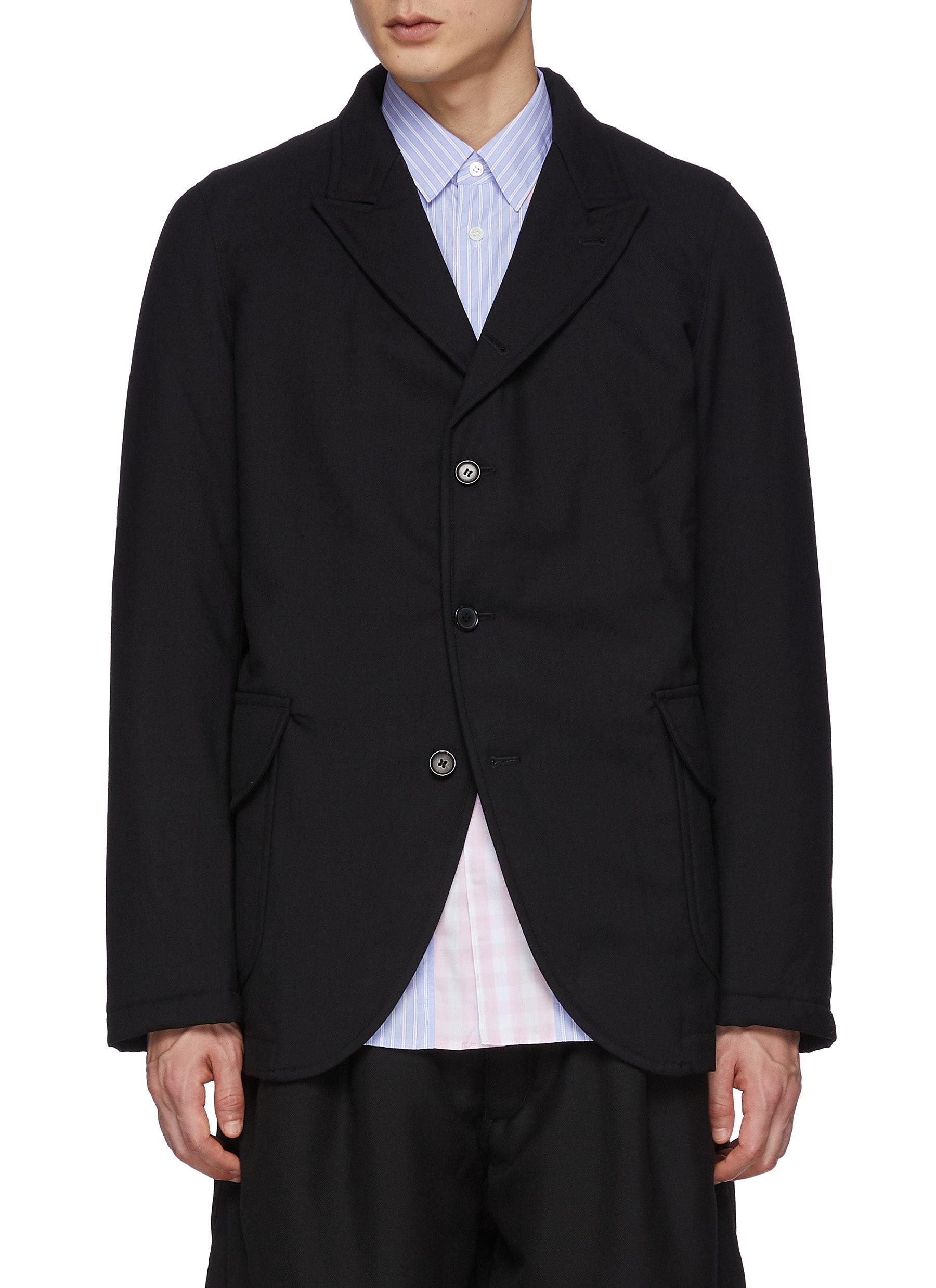 Ply Padding Wool Gabardine Plain Blazer