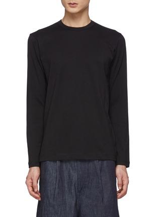 Main View - Click To Enlarge - COMME DES GARÇONS SHIRT - Back Logo Long Sleeve T-Shirt