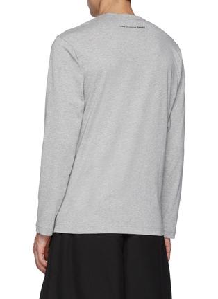 Back View - Click To Enlarge - COMME DES GARÇONS SHIRT - Back Logo Long Sleeve T-Shirt