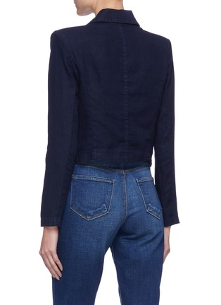 Back View - Click To Enlarge - L'AGENCE - 'Dolly' crop blazer