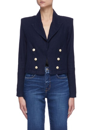Main View - Click To Enlarge - L'AGENCE - 'Dolly' crop blazer