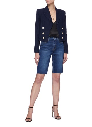 Figure View - Click To Enlarge - L'AGENCE - 'Dolly' crop blazer