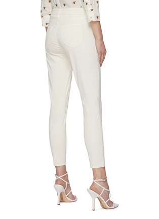 Back View - Click To Enlarge - L'AGENCE - 'Margot' Mid Rise Crop Denim Skinny Jeans