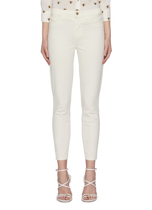 Main View - Click To Enlarge - L'AGENCE - 'Margot' Mid Rise Crop Denim Skinny Jeans