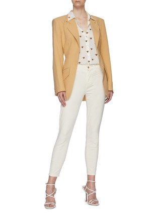 Figure View - Click To Enlarge - L'AGENCE - 'Margot' Mid Rise Crop Denim Skinny Jeans