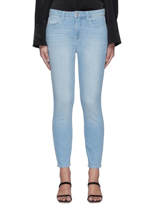 Main View - Click To Enlarge - L'AGENCE - Margot' Light Wash Cropped Skinny Jeans