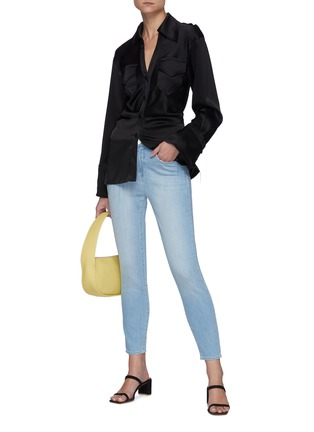 Figure View - Click To Enlarge - L'AGENCE - Margot' Light Wash Cropped Skinny Jeans