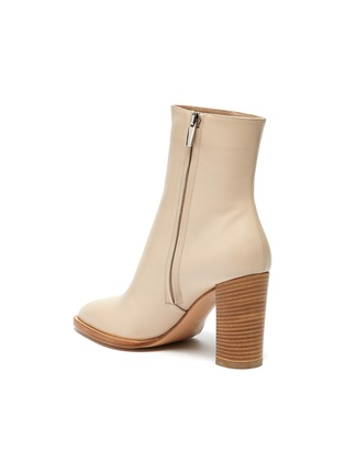 - GIANVITO ROSSI - River' Point Toe Calfskin Leather Ankle Boots