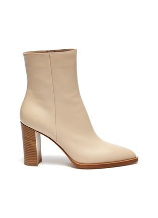 Main View - Click To Enlarge - GIANVITO ROSSI - River' Point Toe Calfskin Leather Ankle Boots