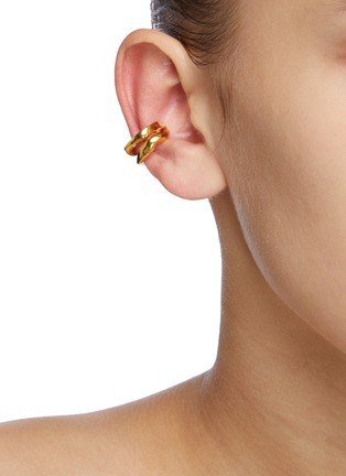 Figure View - Click To Enlarge - MISHO - 22k Gold-plated Bronze Ear Cuffs