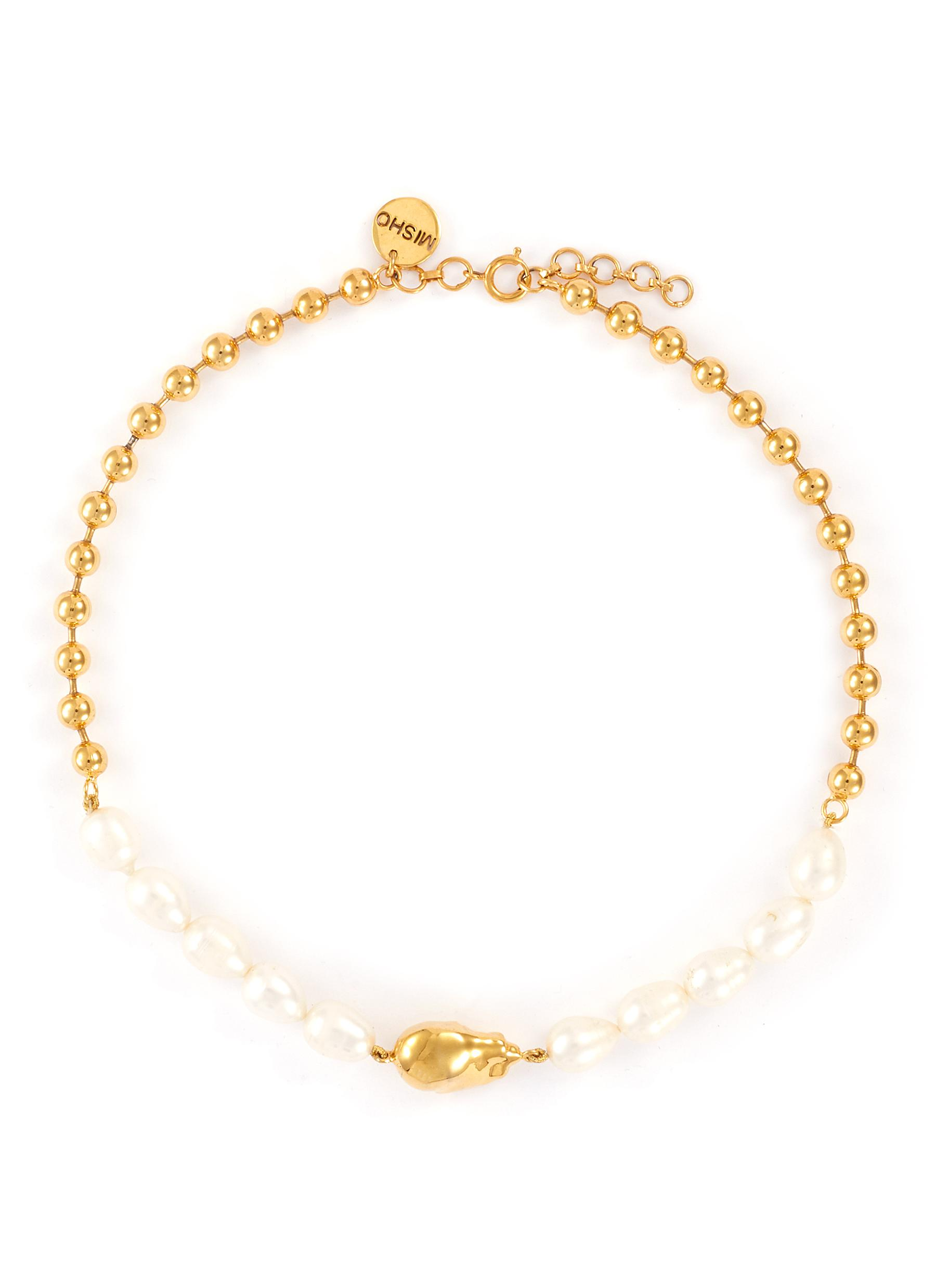 Baroque Pearl 22k Gold-plated Bronze Necklace
