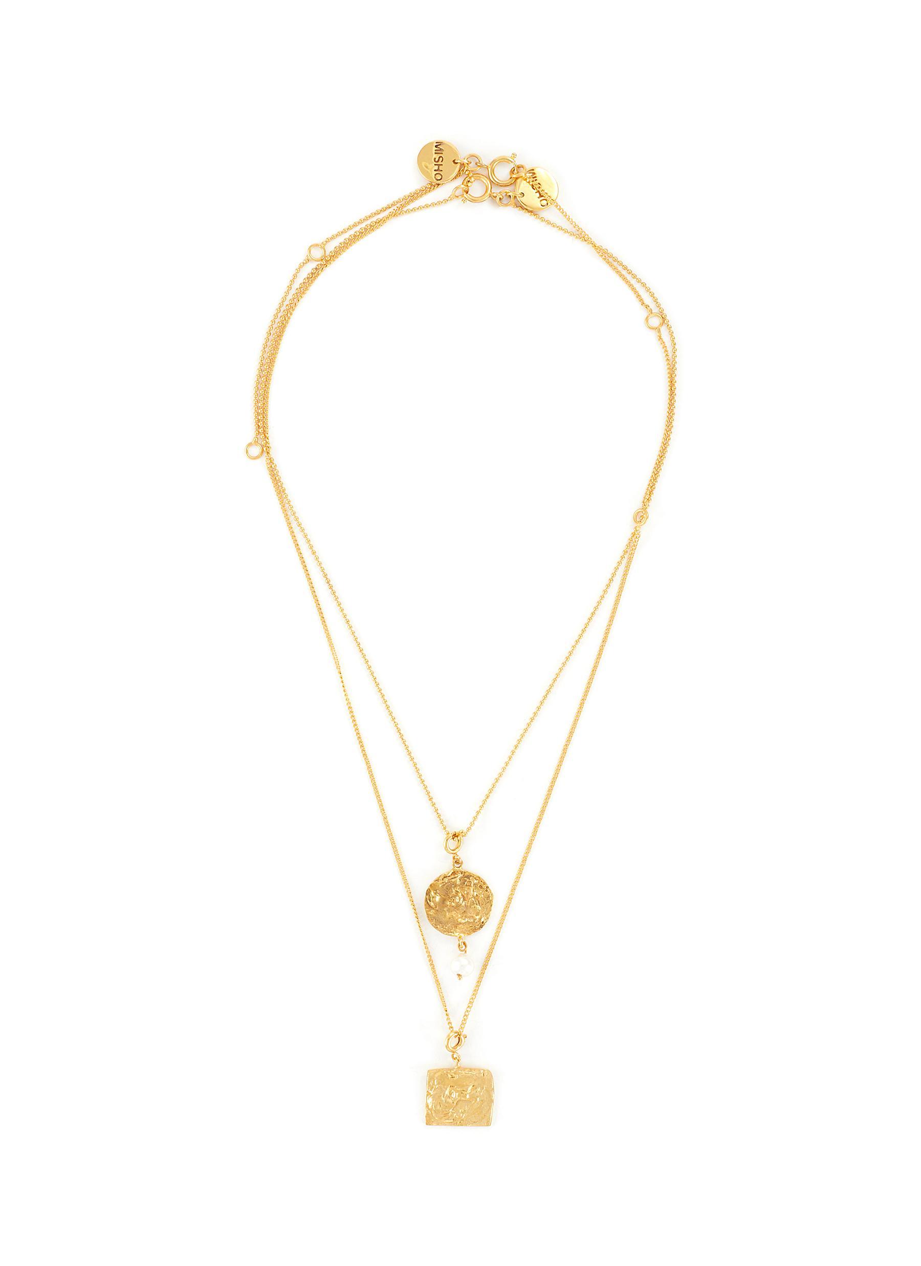 22k Gold-plated Bronze Pendant Necklace Set
