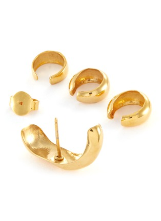Detail View - Click To Enlarge - MISHO - Sunday' 22k Gold-plated Bronze Earring and Ear Cuff Set