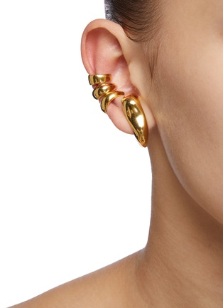 Figure View - Click To Enlarge - MISHO - Sunday' 22k Gold-plated Bronze Earring and Ear Cuff Set