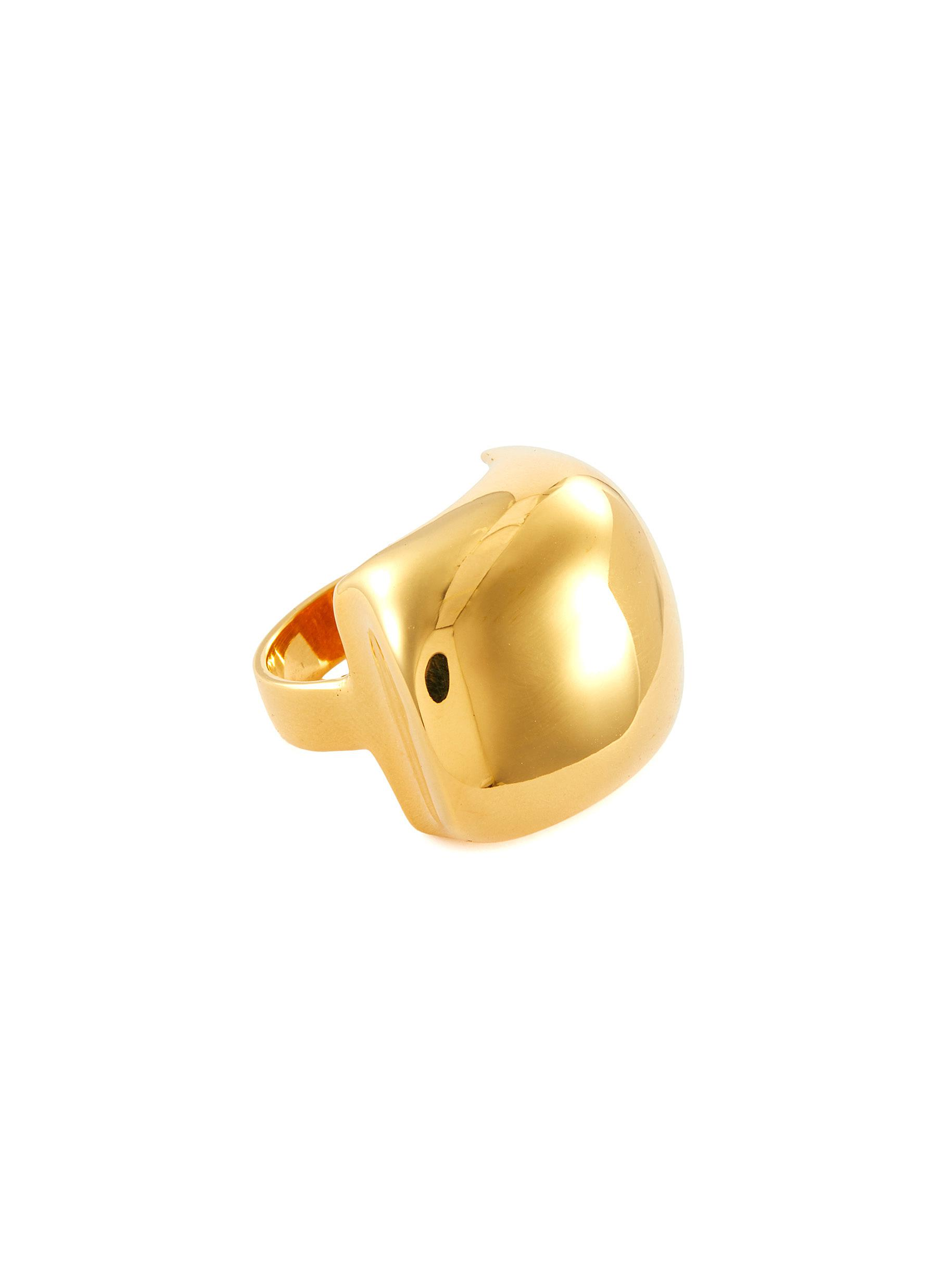 Pebble' 22k Gold-plated Bronze Large Signet Ring