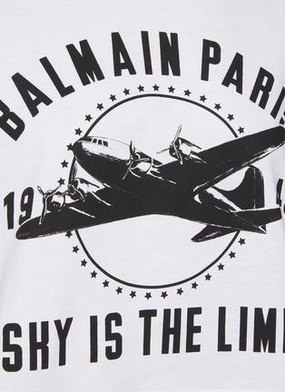 - BALMAIN - Printed Cropped T-shirt