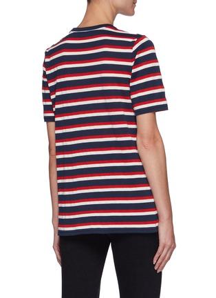 Back View - Click To Enlarge - BALMAIN - Button Stripe T-shirt