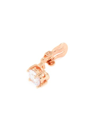 Detail View - Click To Enlarge - CZ BY KENNETH JAY LANE - Round Cut Cubic Zirconia Clip On Stud Earrings