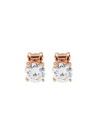 Main View - Click To Enlarge - CZ BY KENNETH JAY LANE - Round Cut Cubic Zirconia Clip On Stud Earrings