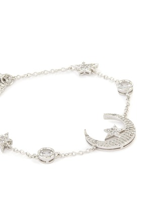 Detail View - Click To Enlarge - CZ BY KENNETH JAY LANE - Cubic Zirconia Star Moon Motif Bracelet