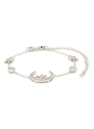 Main View - Click To Enlarge - CZ BY KENNETH JAY LANE - Cubic Zirconia Star Moon Motif Bracelet