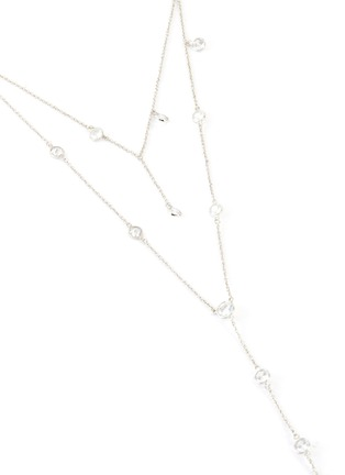 Detail View - Click To Enlarge - CZ BY KENNETH JAY LANE - Cubic Zirconia Layered Y Necklace