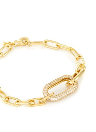 Detail View - Click To Enlarge - CZ BY KENNETH JAY LANE - Cubic Zirconia Oval Link Chain Bracelet