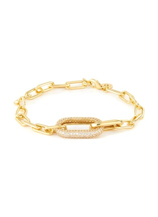 Main View - Click To Enlarge - CZ BY KENNETH JAY LANE - Cubic Zirconia Oval Link Chain Bracelet