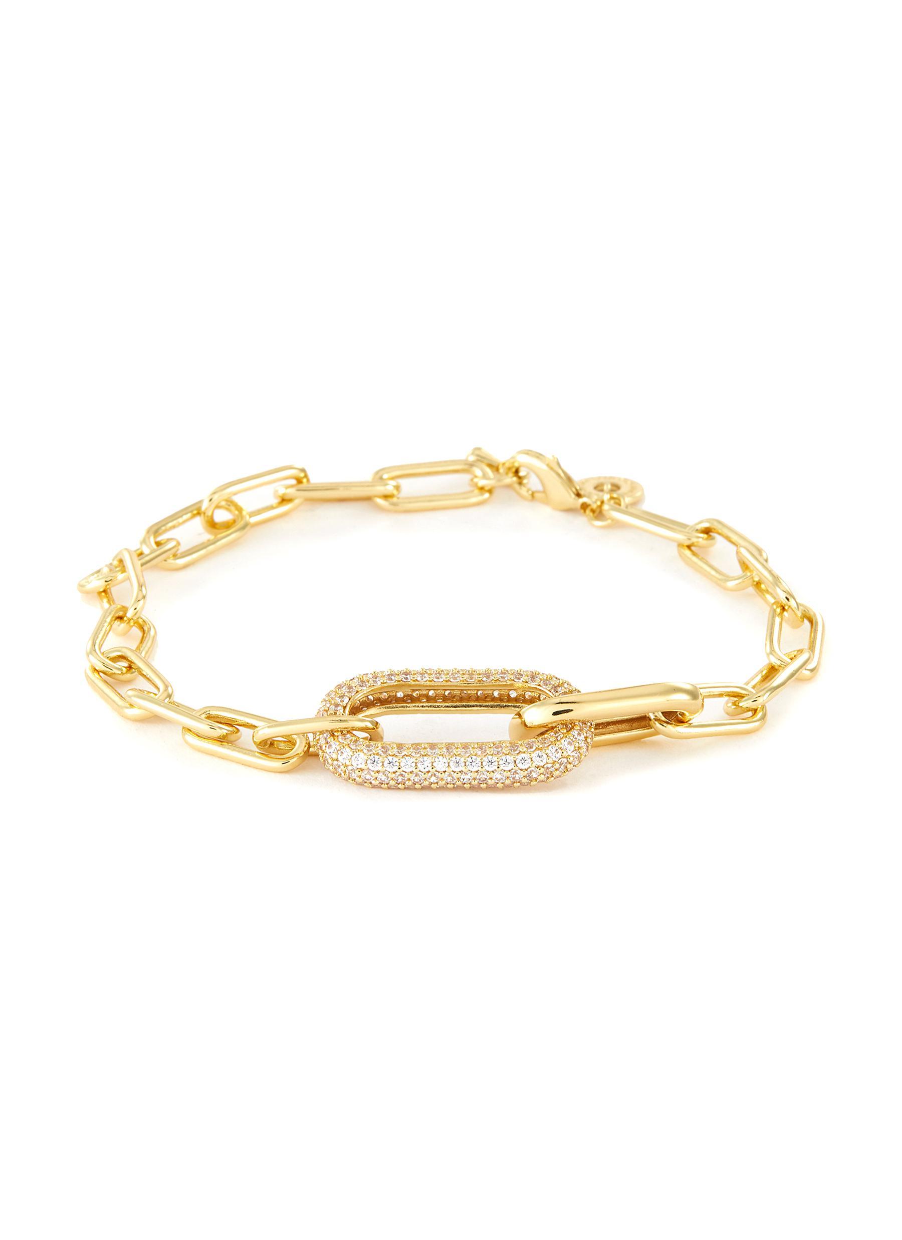 Cubic Zirconia Oval Link Chain Bracelet