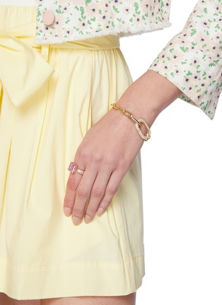 Figure View - Click To Enlarge - CZ BY KENNETH JAY LANE - Cubic Zirconia Oval Link Chain Bracelet