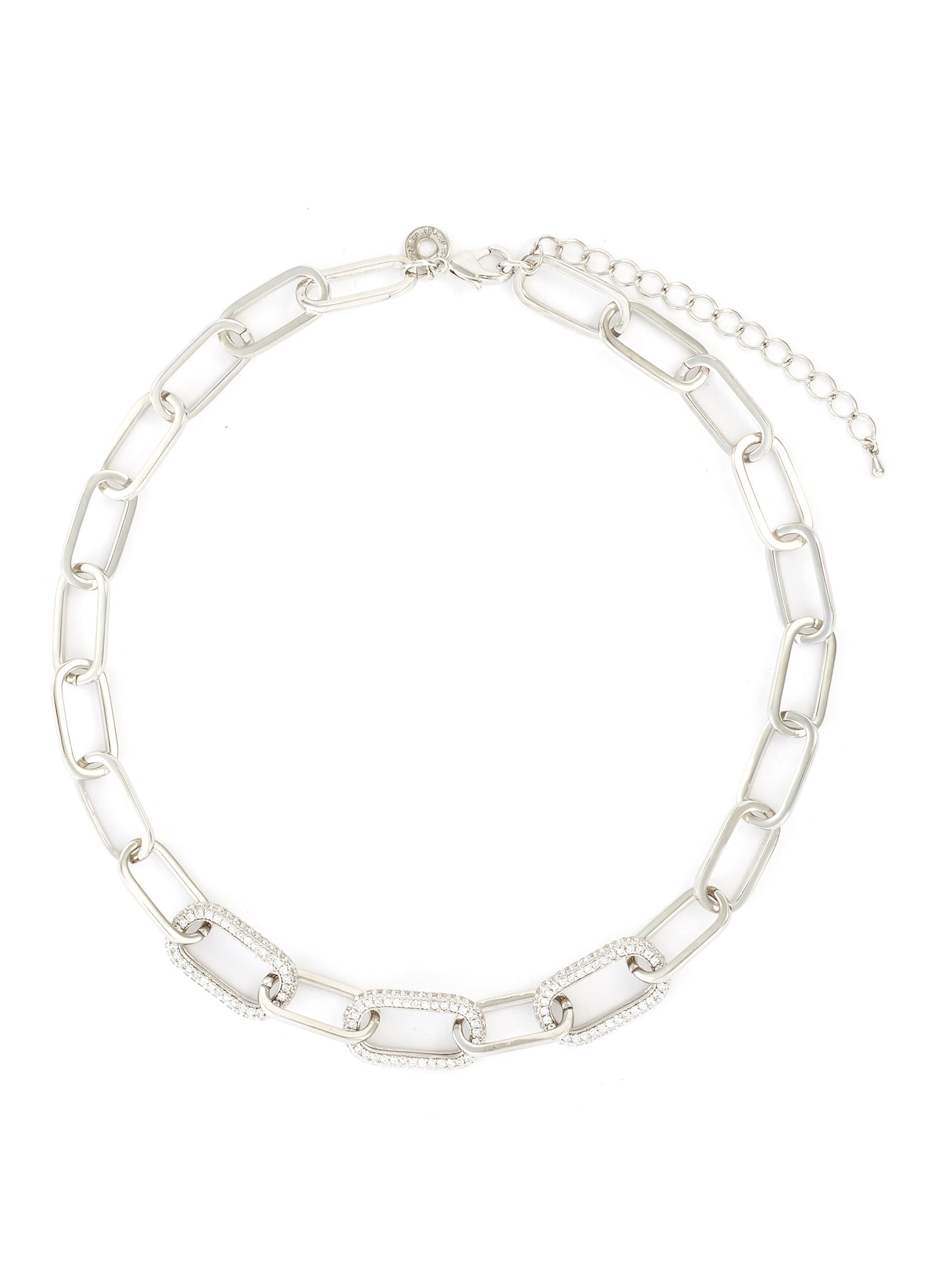 Cubic Zirconia Link Chain Necklace
