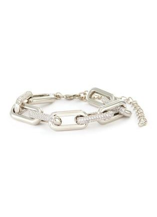 Main View - Click To Enlarge - CZ BY KENNETH JAY LANE - Cubic Zirconia Alternative Link Chain Bracelet