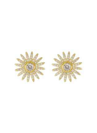 Main View - Click To Enlarge - CZ BY KENNETH JAY LANE - Cubic Zirconia Symmetrical Stud Earrings