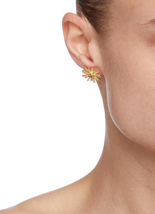Figure View - Click To Enlarge - CZ BY KENNETH JAY LANE - Cubic Zirconia Symmetrical Stud Earrings