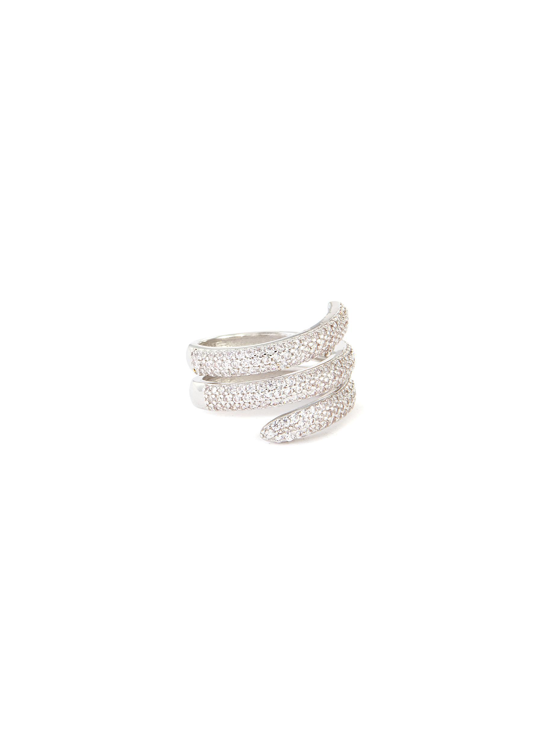 Cubic Zirconia Triple Swirl Ring