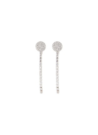 Main View - Click To Enlarge - CZ BY KENNETH JAY LANE - Cubic Zirconia Loop Back Earrings