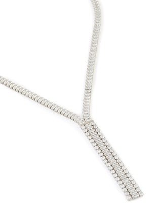 Detail View - Click To Enlarge - CZ BY KENNETH JAY LANE - Cubic Zirconia Lariat Necklace
