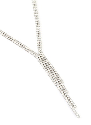 Detail View - Click To Enlarge - CZ BY KENNETH JAY LANE - Cubic Zirconia Tassel Necklace