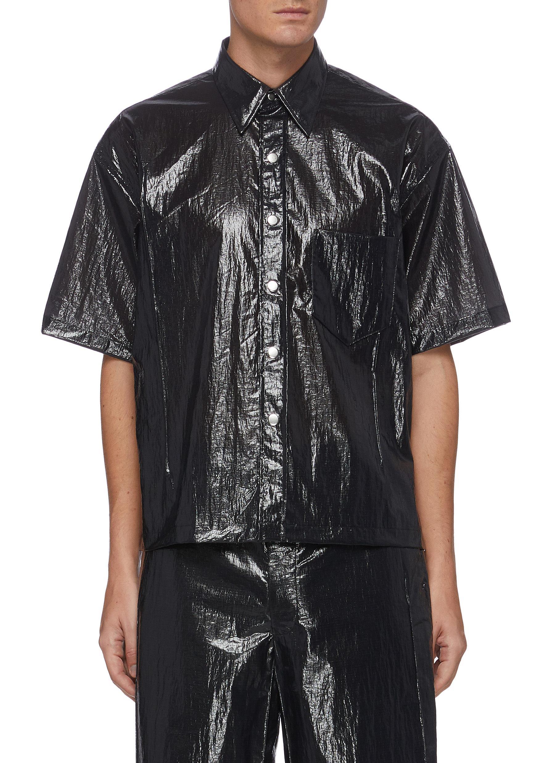 'Cuboid' nylon short sleeve shirt