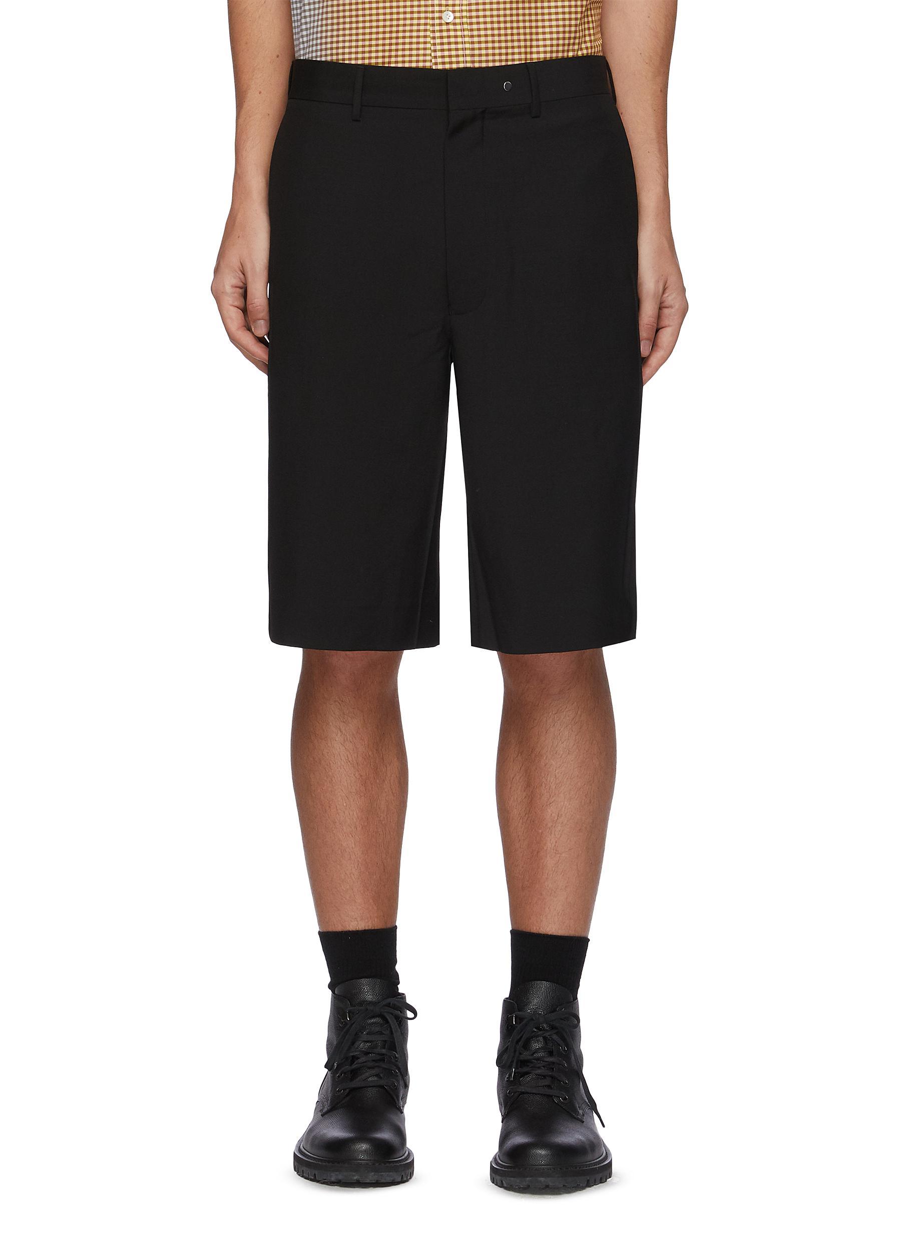 'Cuboid' Wool mohair blend tailored shorts