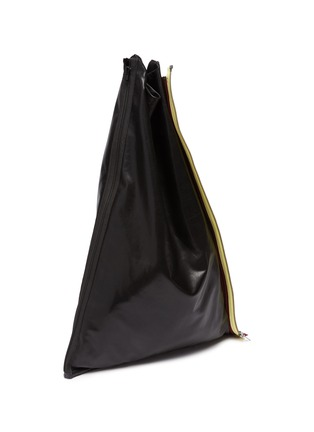 Detail View - Click To Enlarge - KARMUEL YOUNG - Rainbow Zip Detail Triangular Leather Tote