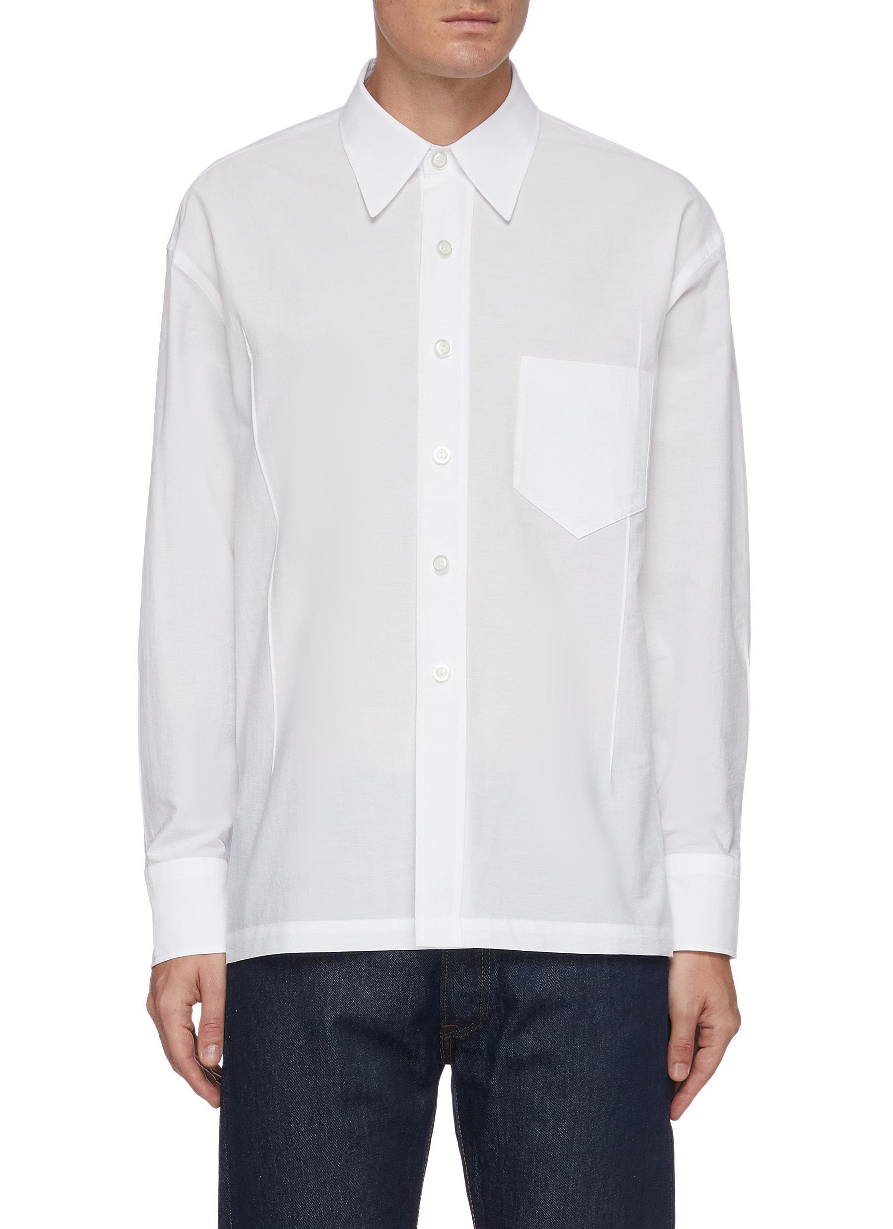 'Cuboid' tailored cotton shirt