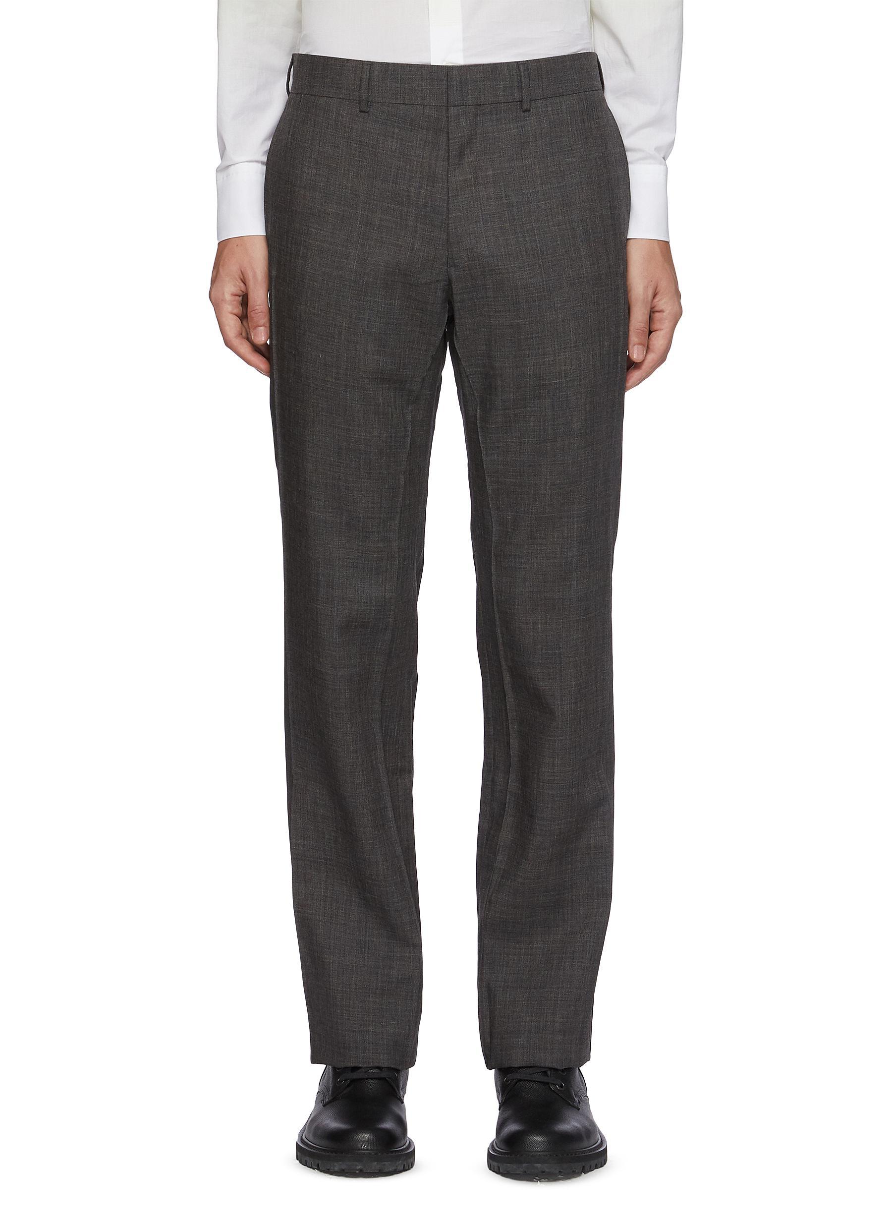 'Cuboid' Wool mohair blend tailored pants