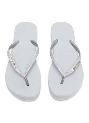 Detail View - Click To Enlarge - HAVAIANAS - 'Shine' Glitter Thong Flatform Sandals