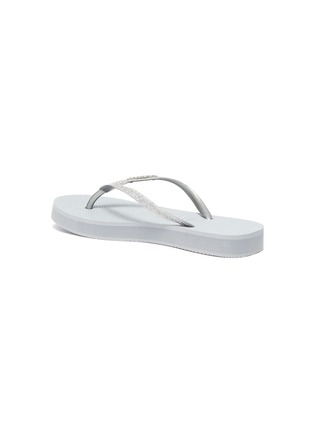 - HAVAIANAS - 'Shine' Glitter Thong Flatform Sandals