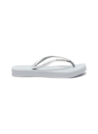 Main View - Click To Enlarge - HAVAIANAS - 'Shine' Glitter Thong Flatform Sandals